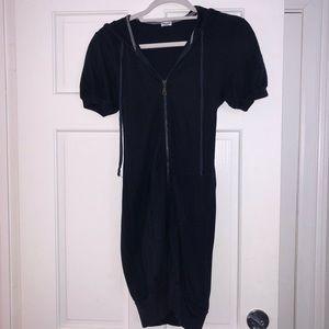 Splendid hooded zip-up dress
